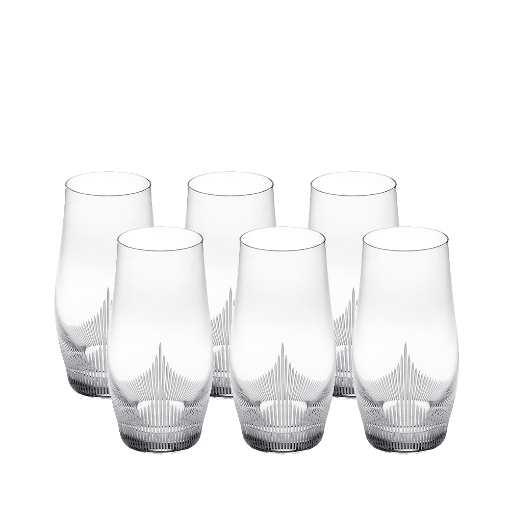set of 6 highball glasses 100 points 100 points by james suckling clear crystal - Highball Glasses