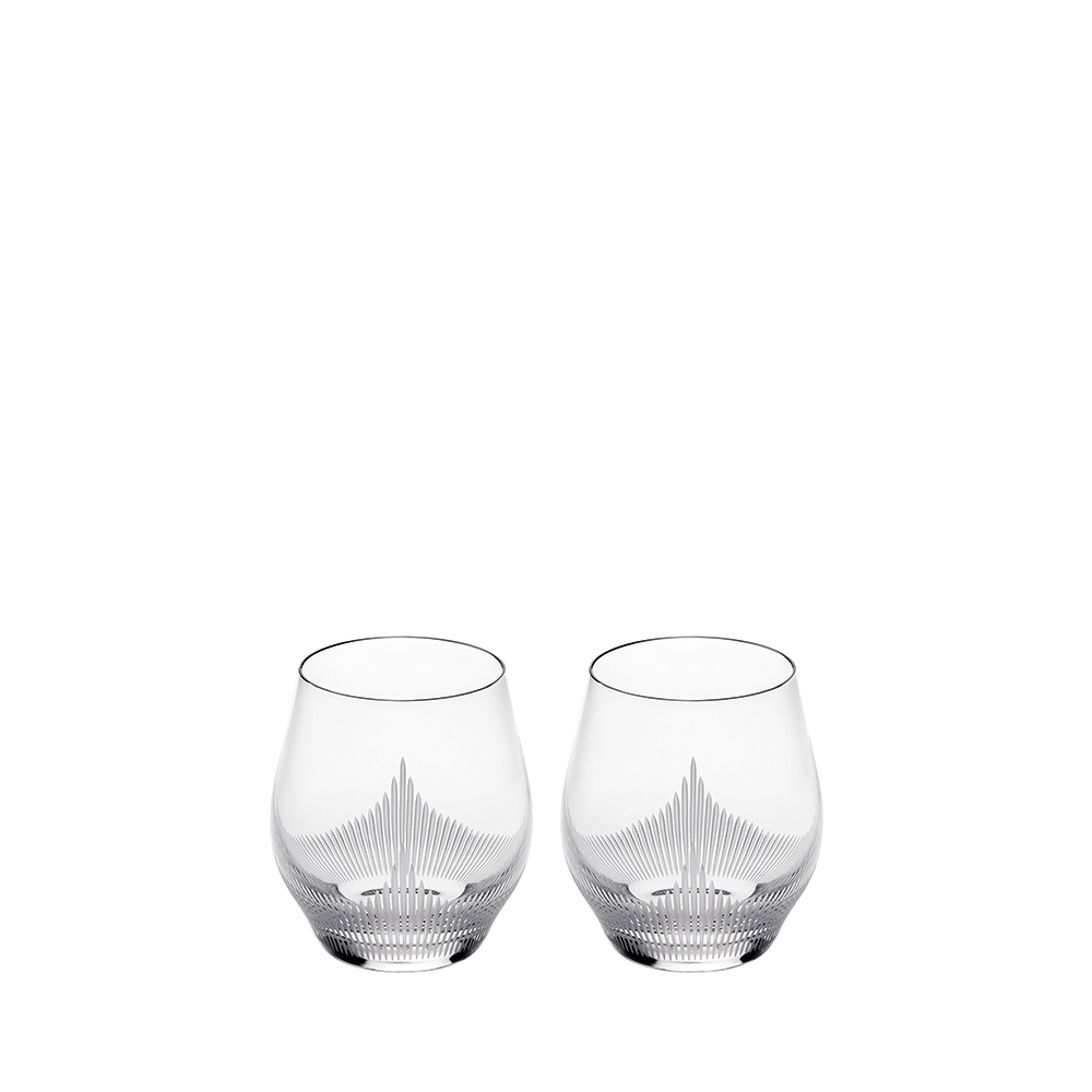 Set of 2 Small Size Tumblers 100 POINTS | 100 POINTS by James Suckling, clear crystal | Glass Lalique