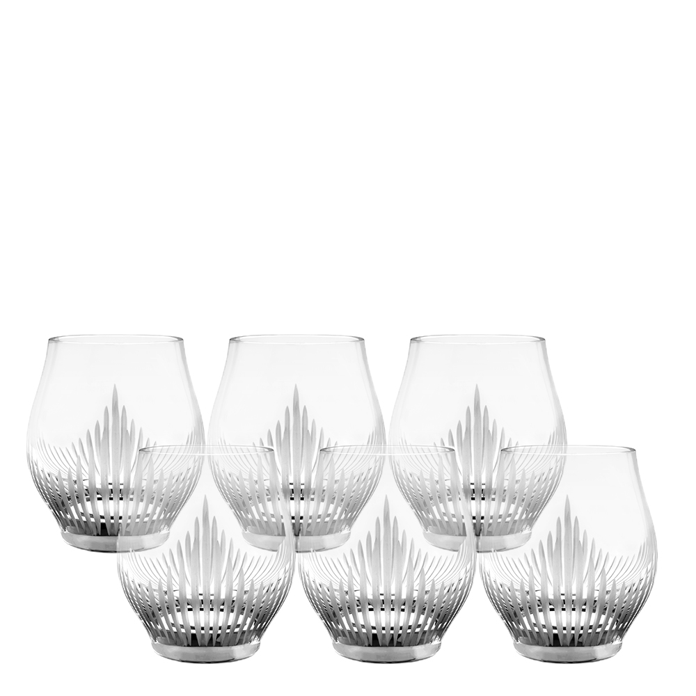 Set of 6 Small Size Tumblers 100 POINTS | 100 POINTS by James Suckling, clear crystal | Glass Lalique