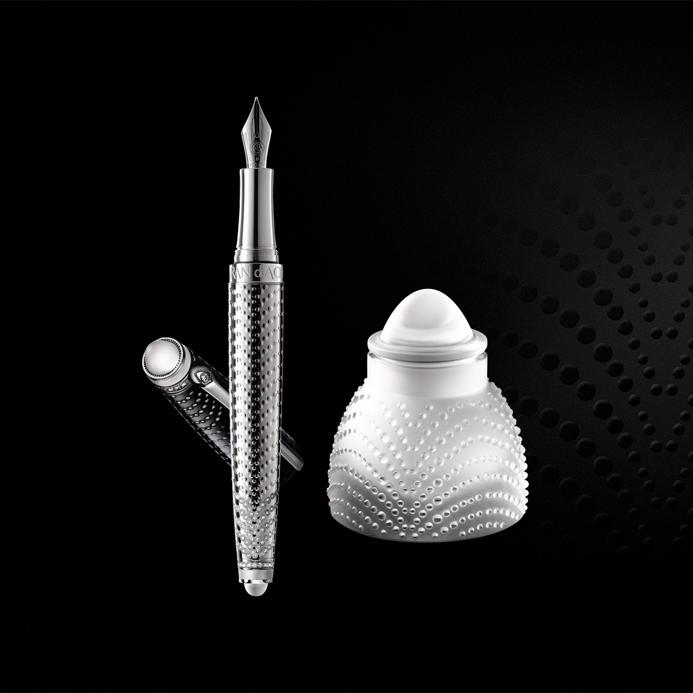 Prestige set, Crystal & Diamonds | Limited edition (18 pieces), fountain pen and ink pot | Caran d'Ache & Lalique