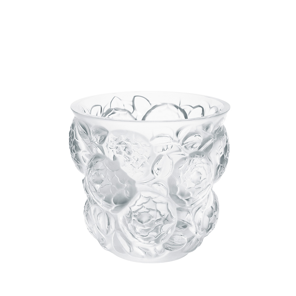 Oran vase | Numbered edition, clear crystal | Vase Lalique