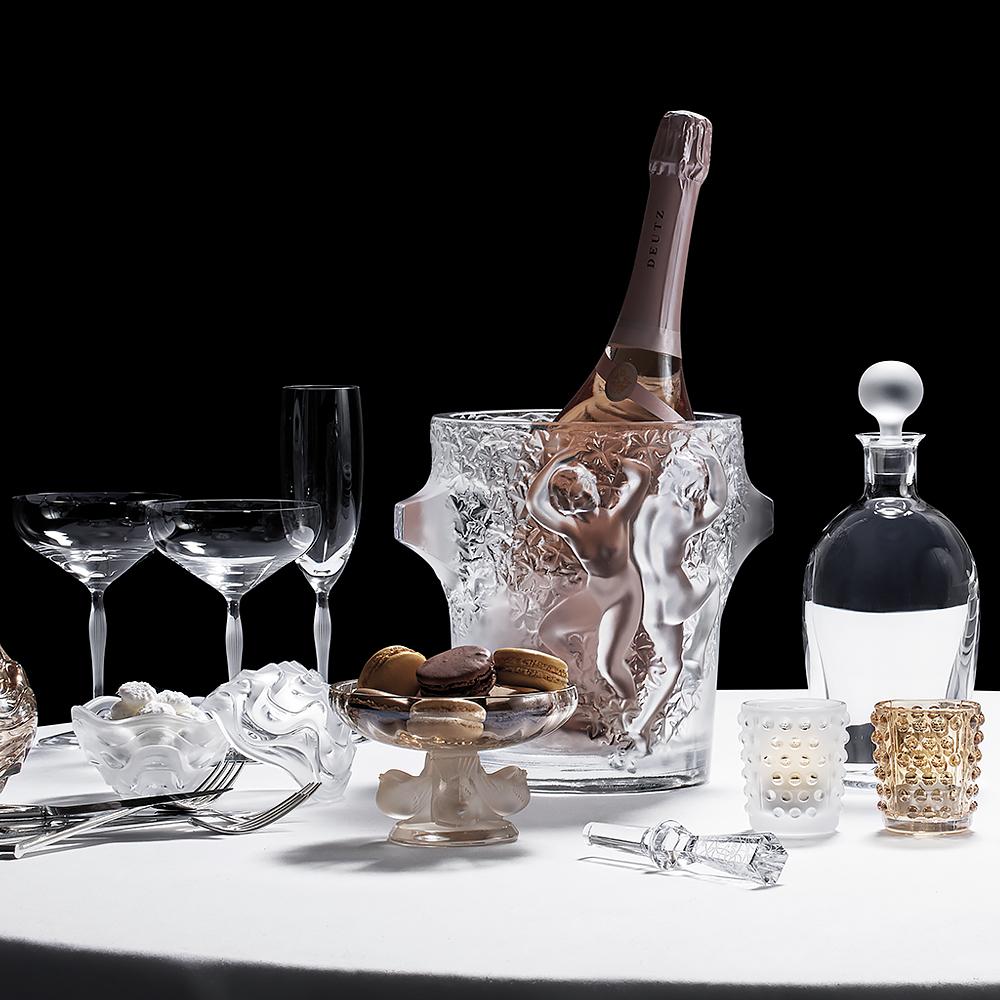 Mossi votive | Gold luster crystal | Candleholder & votive Lalique