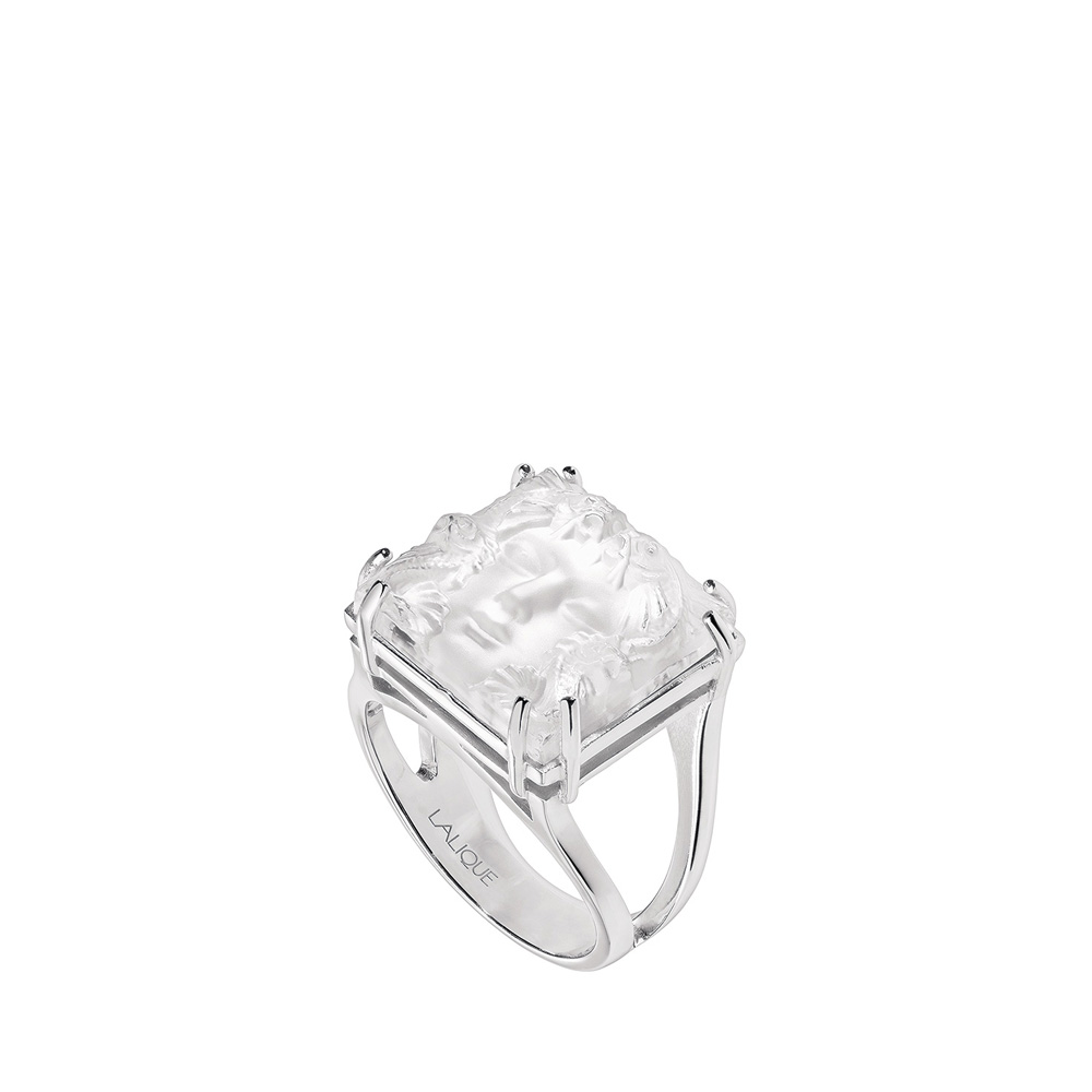 Aréthuse ring | Clear crystal, silver | Costume jewellery Lalique