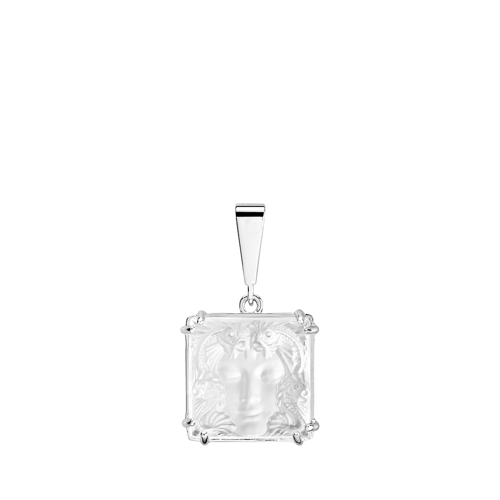 Aréthuse pendant | Clear crystal, silver | Costume jewellery Lalique