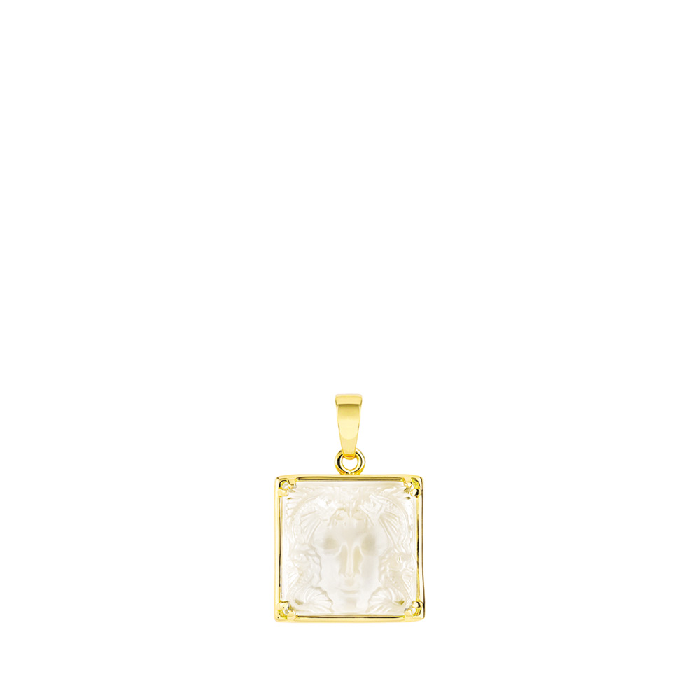 Aréthuse pendant | Clear crystal, yellow gold | Fine jewellery Lalique