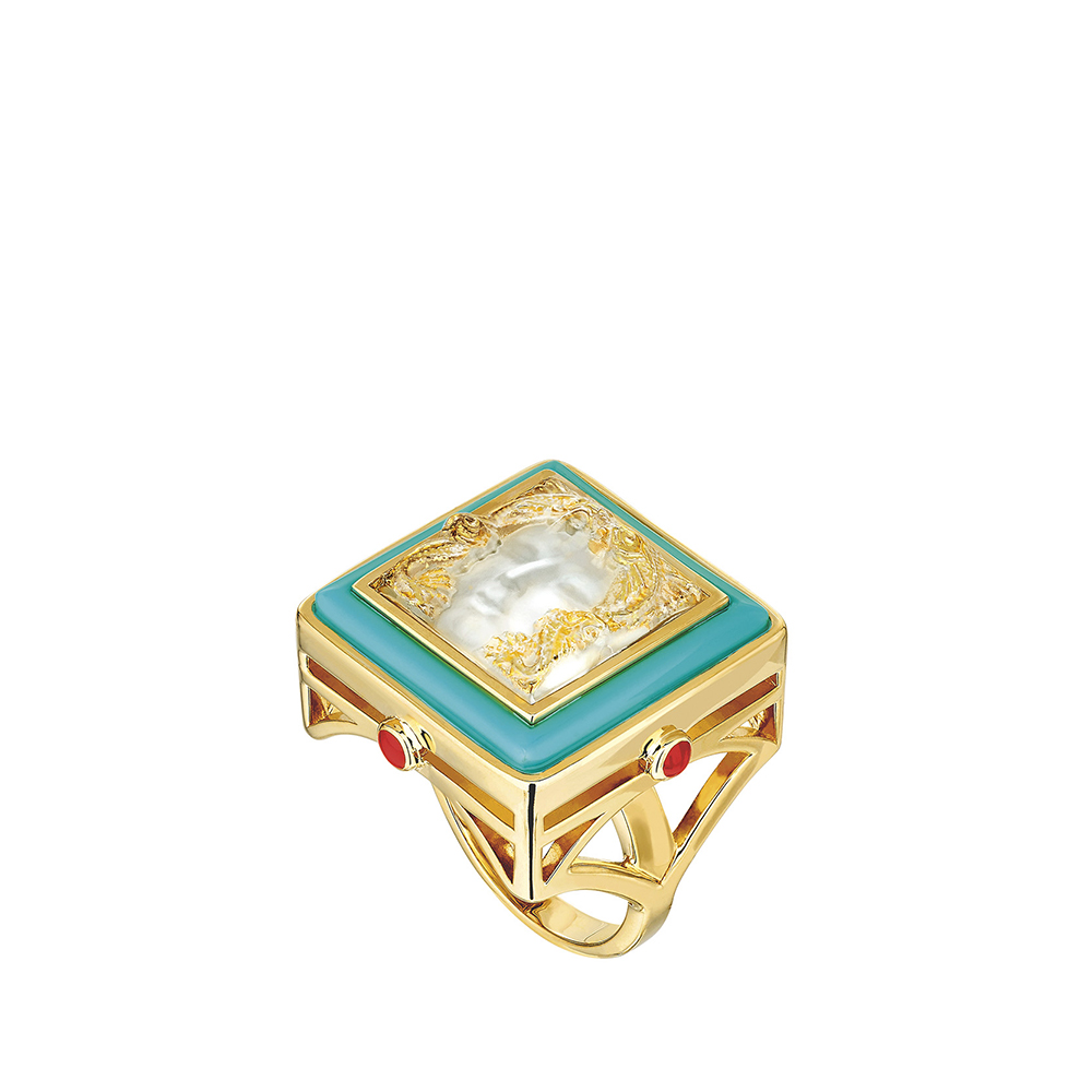 Aréthuse ring | Clear crystal, vermeil | Costume jewellery Lalique