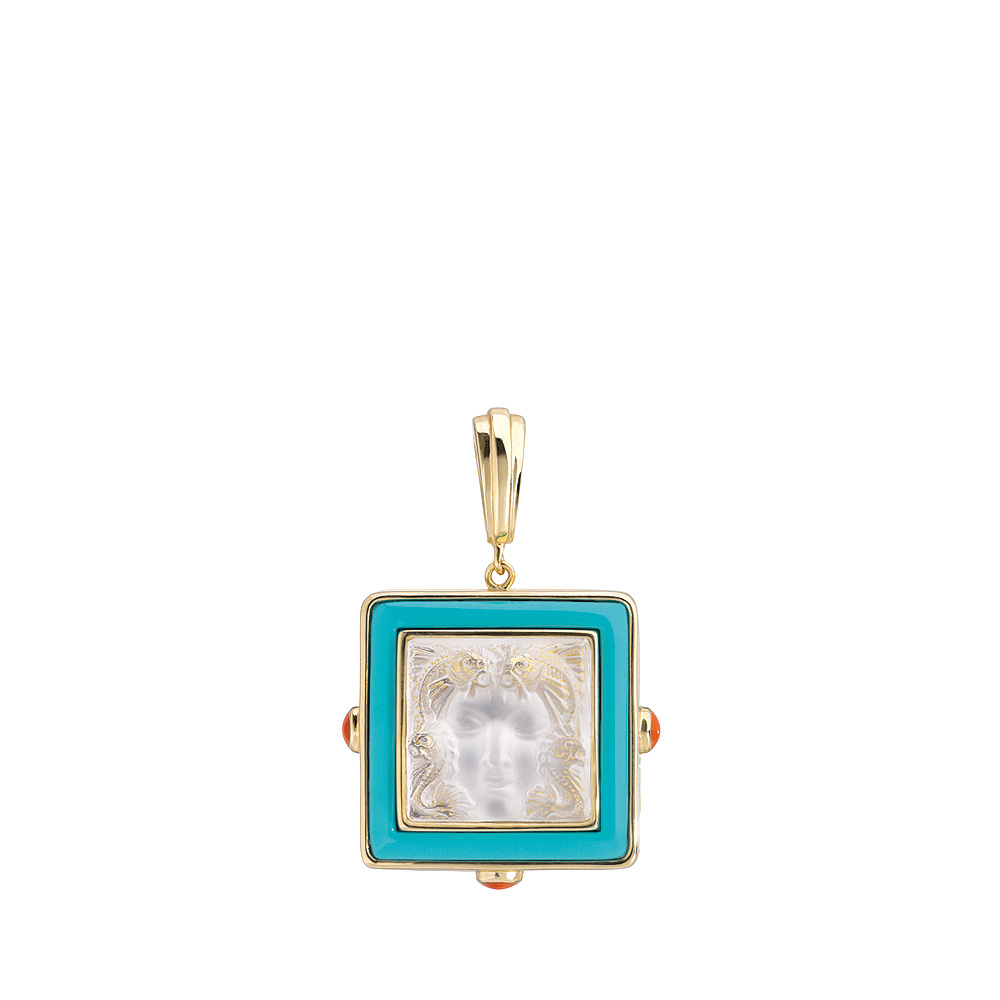 Aréthuse pendant | Clear crystal, vermeil | Costume jewellery Lalique