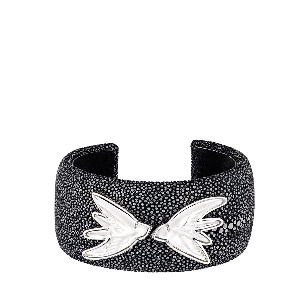 bracelet argent hirondelle