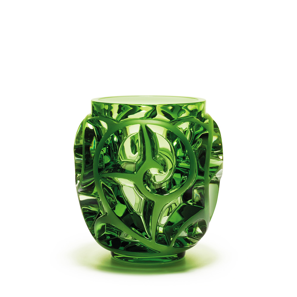 Tourbillons vase | Limited edition (999 pieces), light green crystal | Vase Lalique