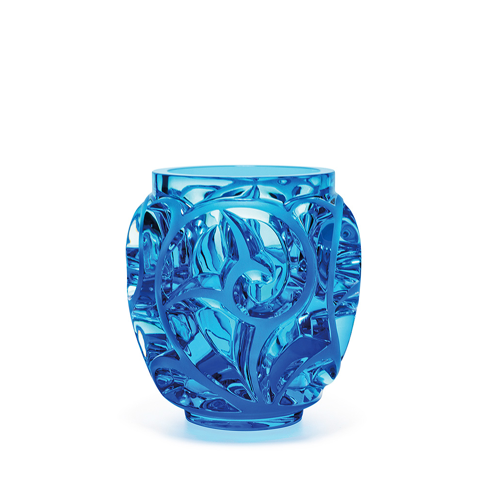 tourbillons vase limited edition 999 pieces light blue crystal vase lalique - Lalique Vase