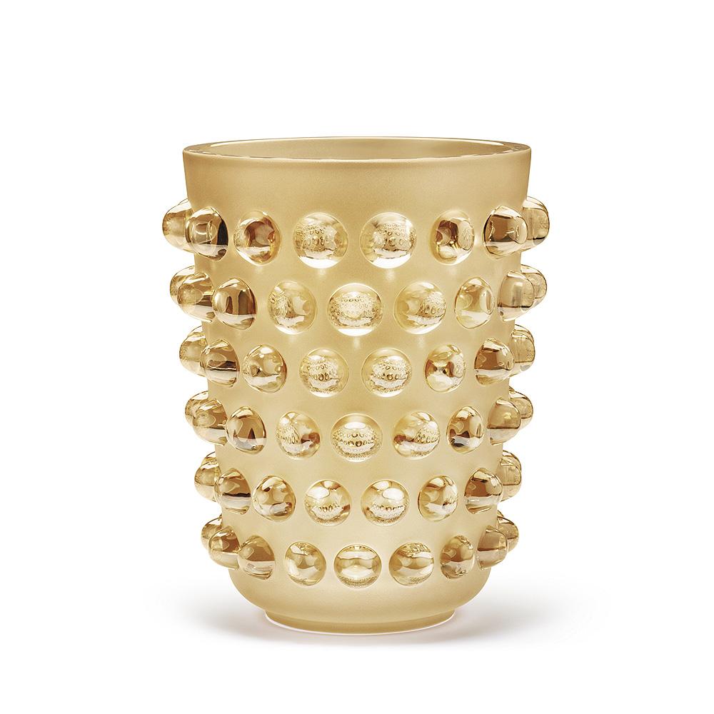 mossi xxl vase gold luster crystal vase lalique lalique. Black Bedroom Furniture Sets. Home Design Ideas