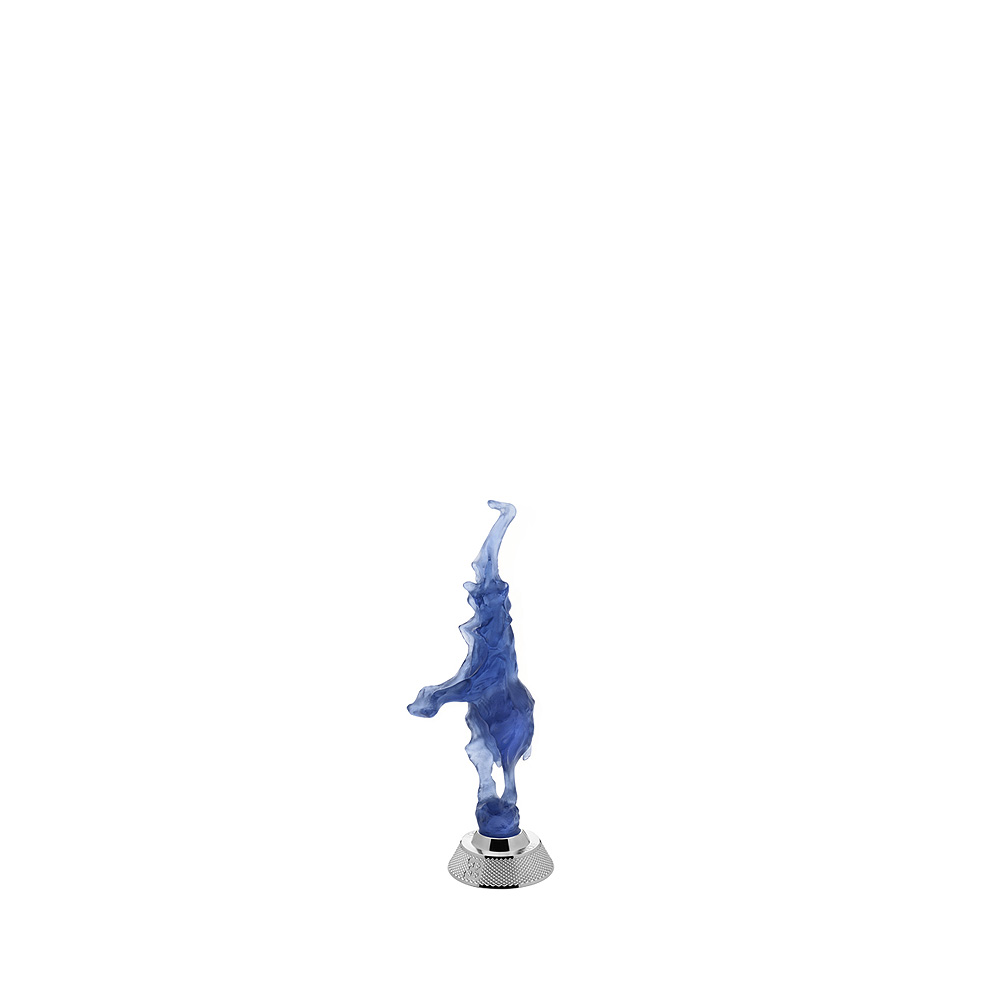 Dancing elephant | Limited edition (35 pieces), blue crystal | Rembrandt Bugatti by Lalique