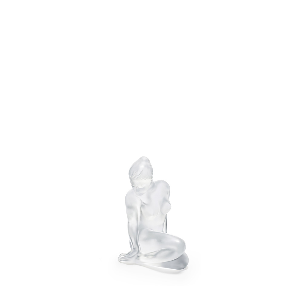 Flore sculpture | Clear crystal | Sculpture Lalique