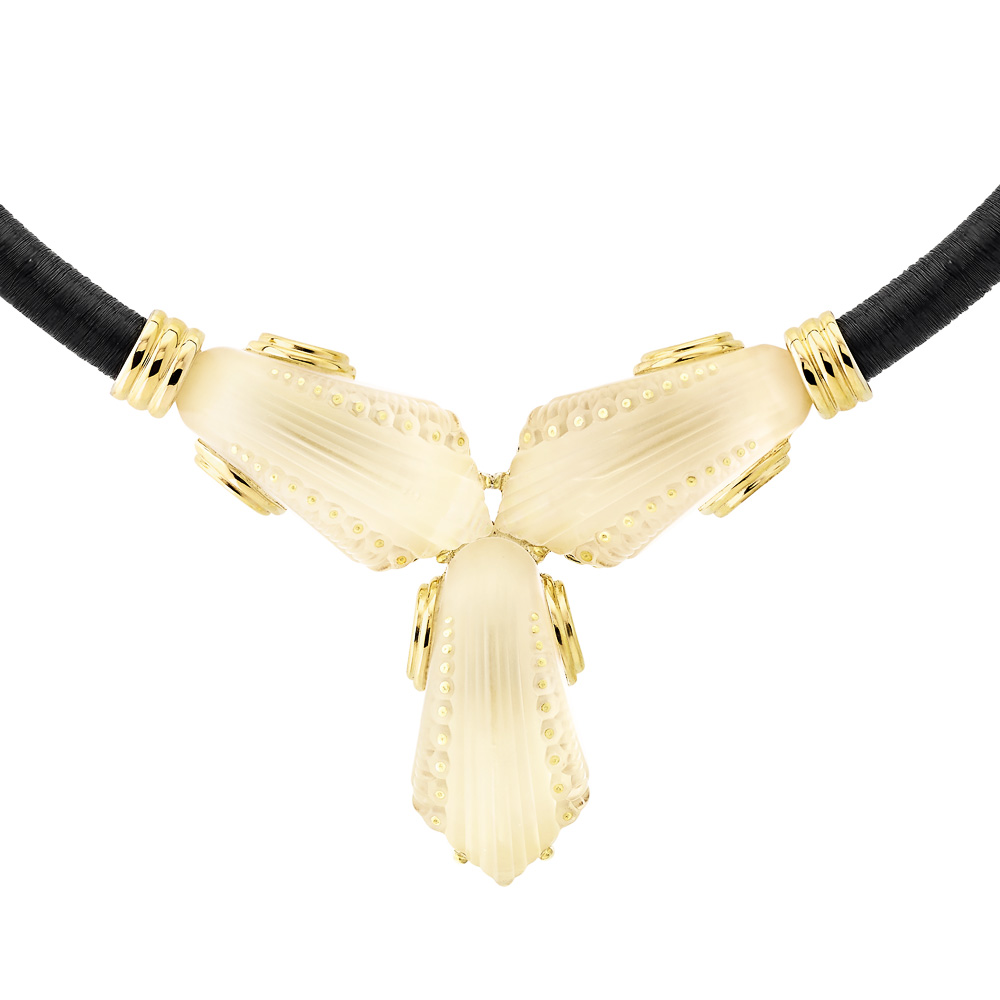 Icone Necklace | Clear crystal, vermeil | Costume jewellery Lalique