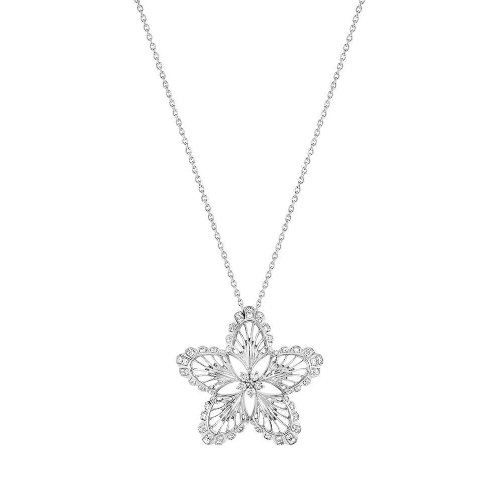 Lys Pendant | Diamonds, white gold | Lalique fine jewellery