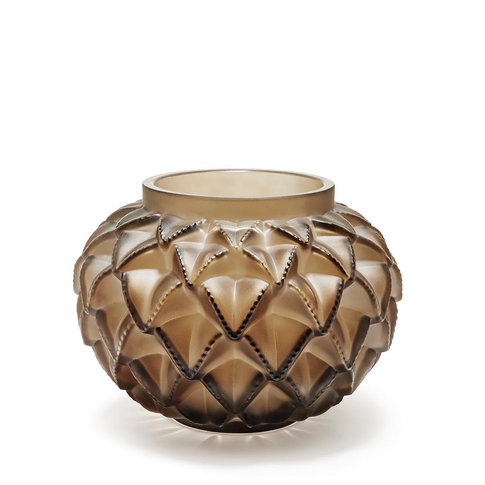 languedoc vase bronze crystal lalique crystal vase - Lalique Vase