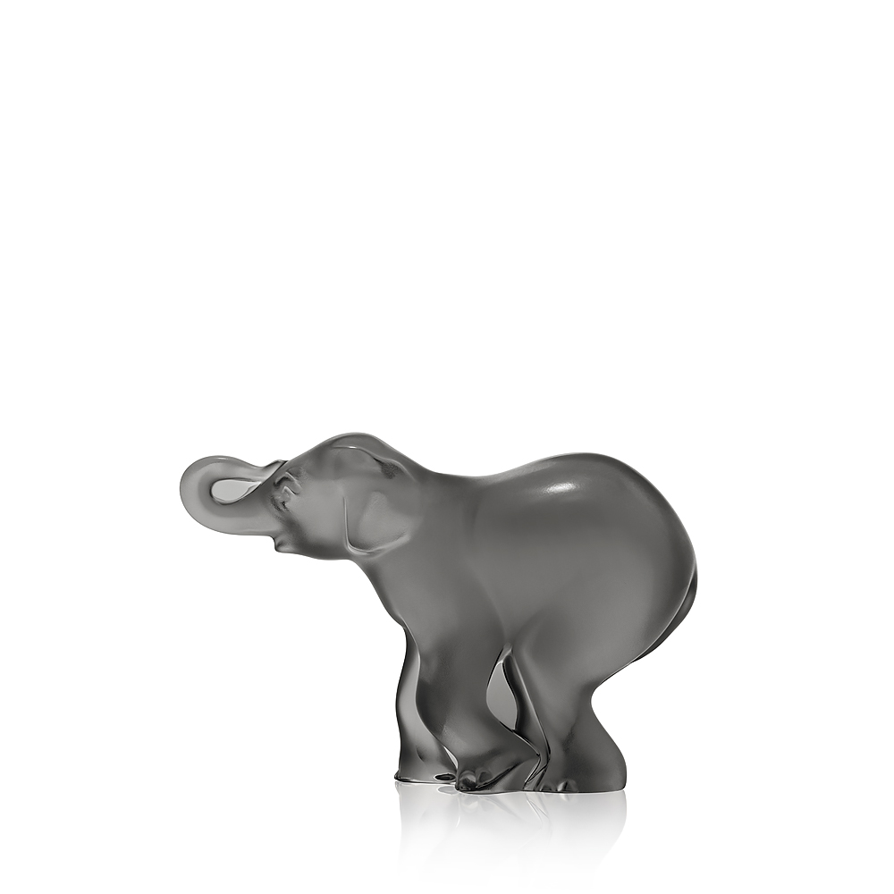 Timori elephant sculpture | Grey crystal | Lalique crystal sculpture