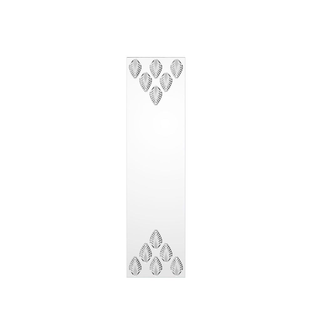 Languedoc mirror | Clear crystal, full length | Interior Design Lalique