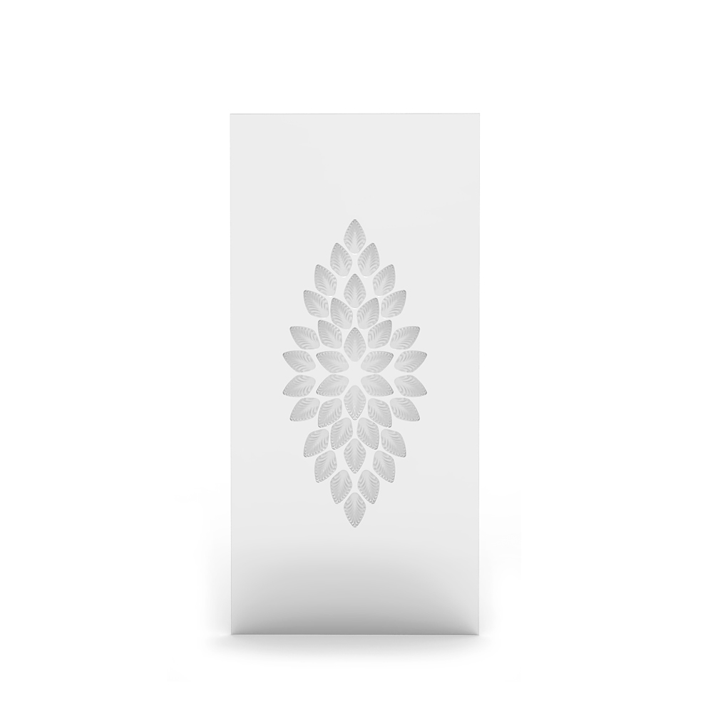 Languedoc interior panel | Clear crystal, satin finish glass, large size | Interior Design Lalique