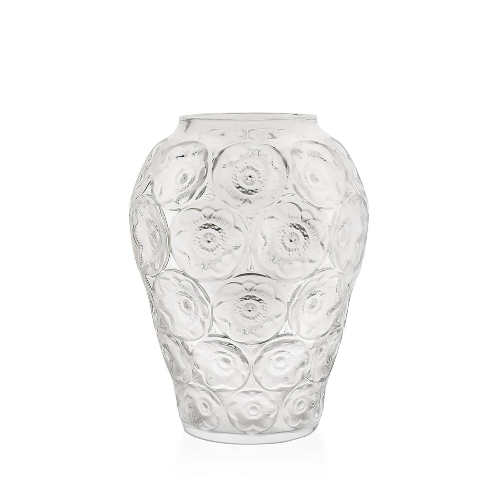 Anemones vase | Clear crystal | Lalique crystal vase