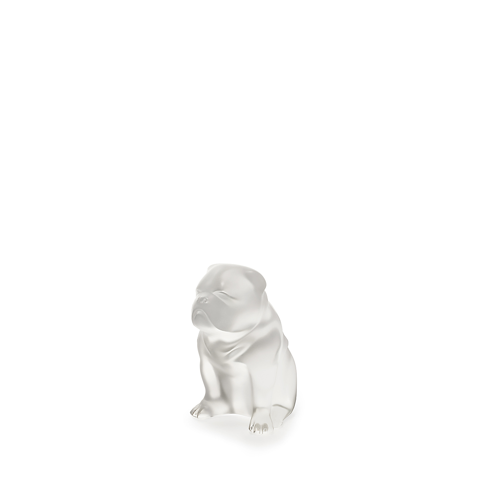 Bulldog dog sculpture | Clear crystal | Sculpture Lalique