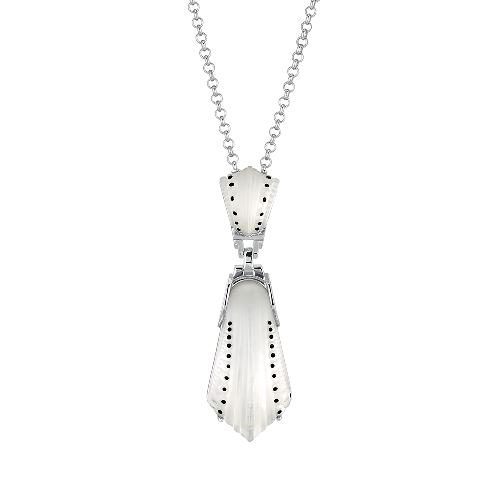 Icône pendant | Clear crystal, silver | Costume jewellery Lalique