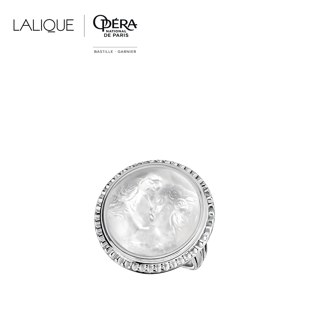 Le Baiser ring | Clear crystal, silver | Costume jewellery Lalique