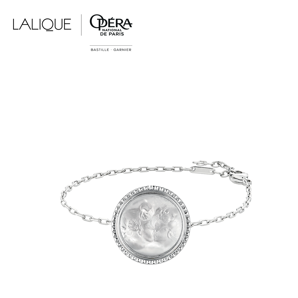 Le Baiser bracelet | Clear crystal, silver | Costume jewellery Lalique