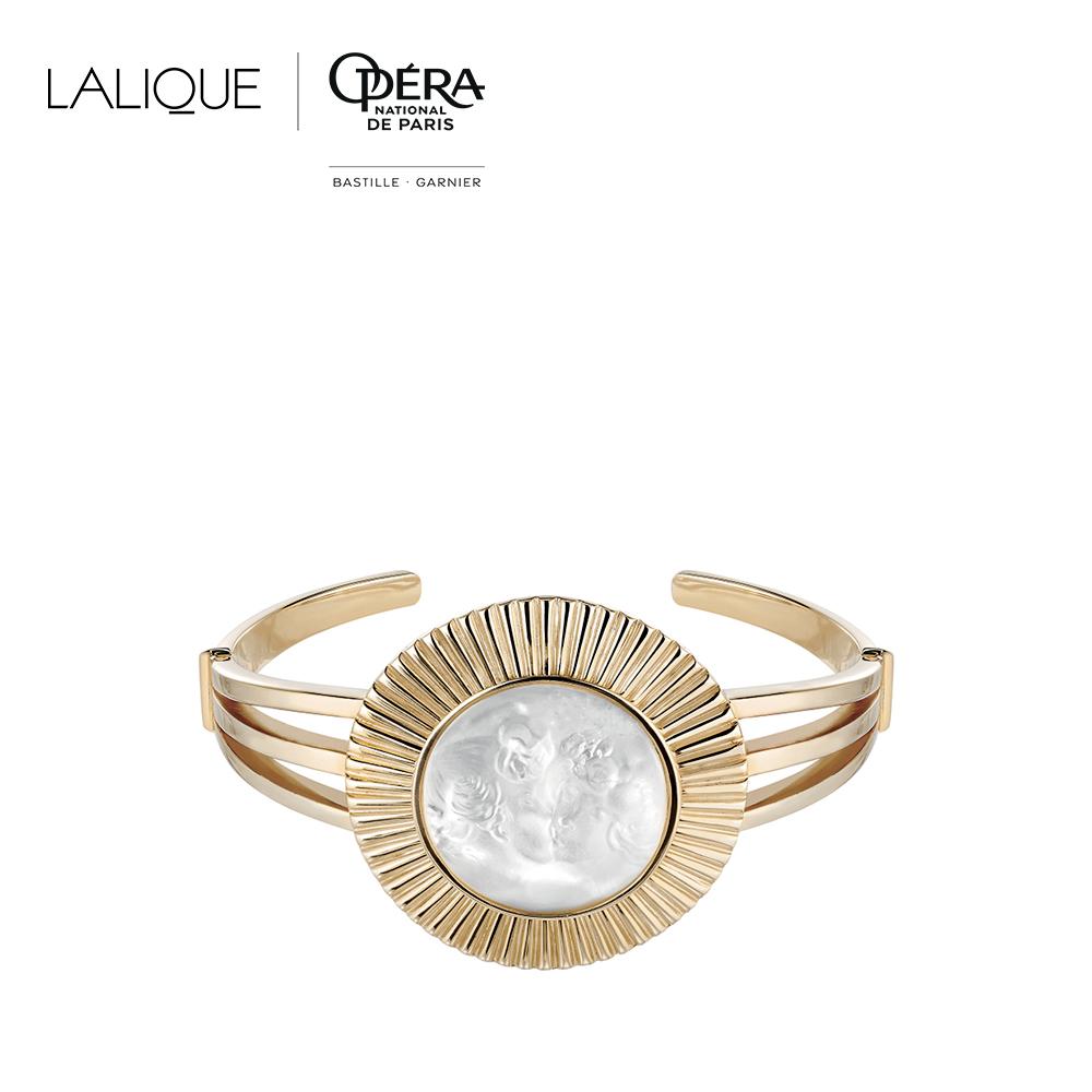 Le Baiser bracelet | Clear crystal, vermeil | Costume jewellery Lalique