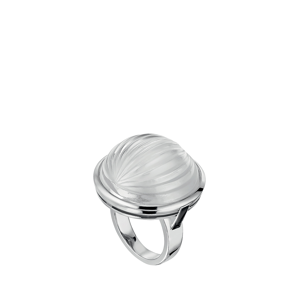 Vibrante ring | Clear crystal, silver | Costume jewellery Lalique