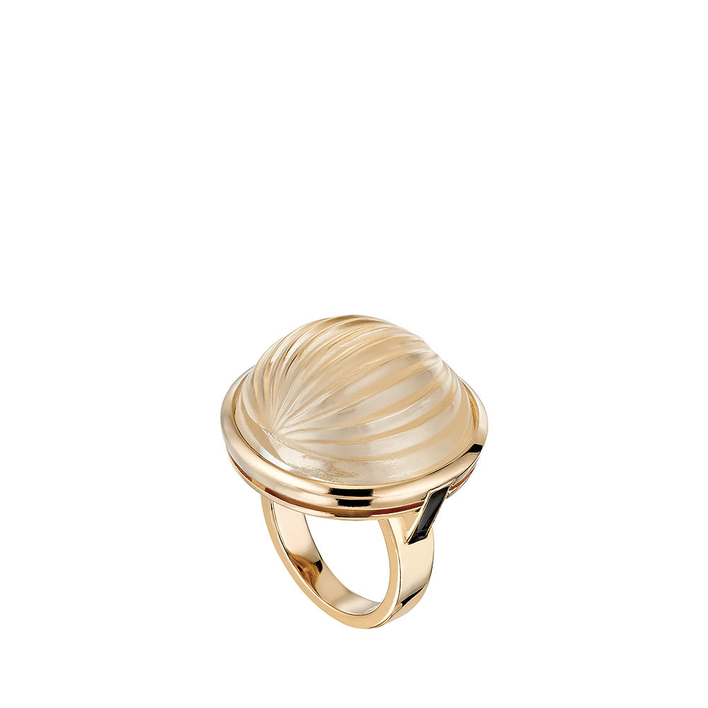 Vibrante ring | Clear crystal, vermeil | Costume jewellery Lalique