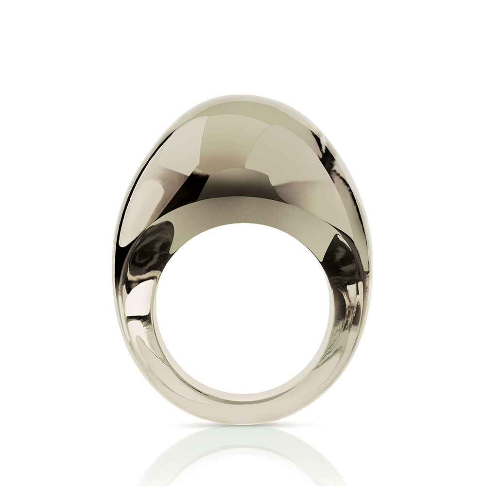 Cabochon ring | Bronze crystal | Costume jewellery Lalique