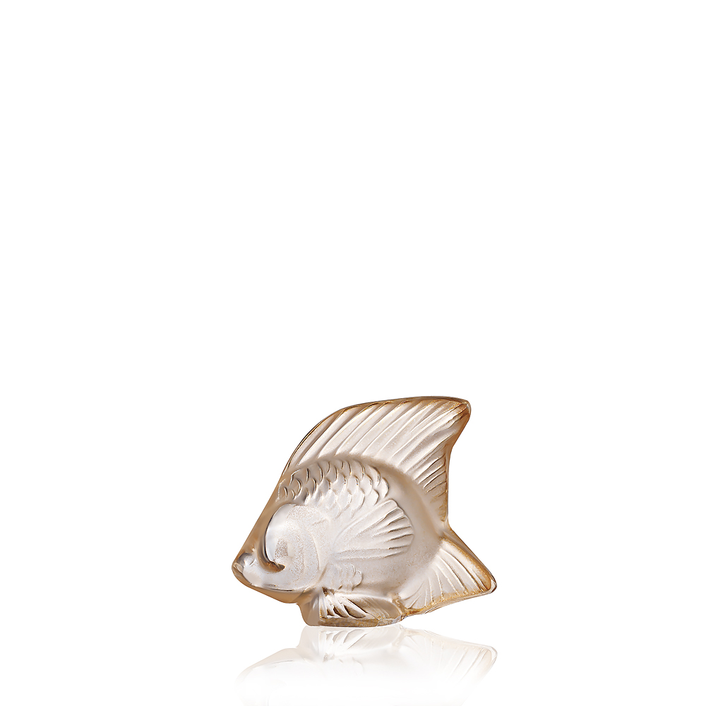 Fish sculpture | Gold luster crystal | Sculpture Lalique