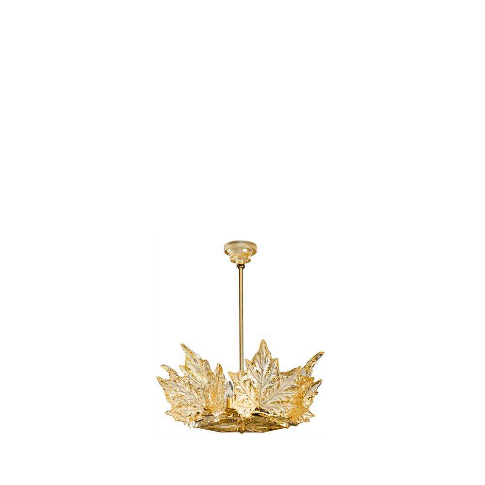 Champs-Élysées chandelier | Gold luster crystal, gilded finish (1 tier) | Interior Design Lalique