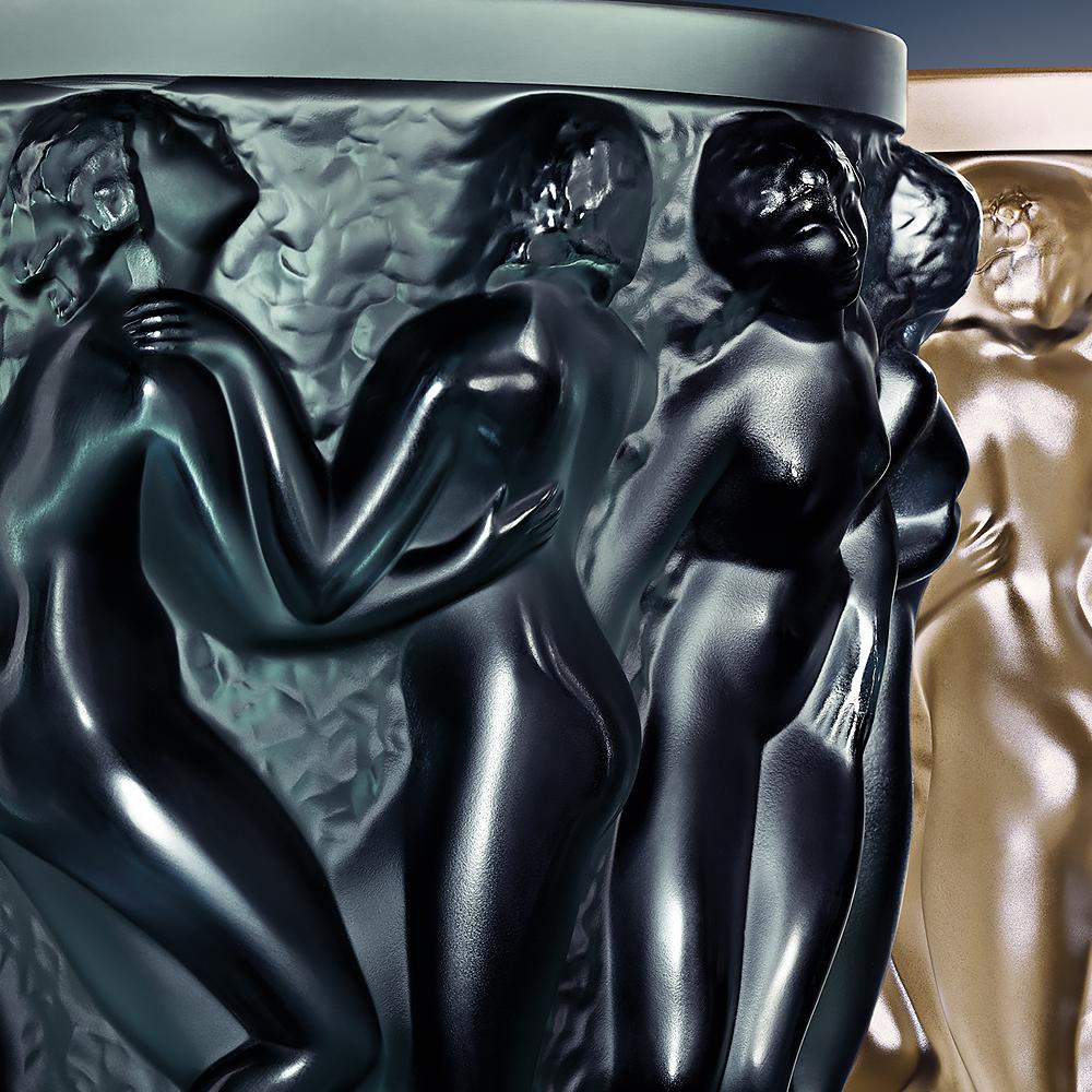 Bacchantes vase | Intense green crystal | Vase Lalique