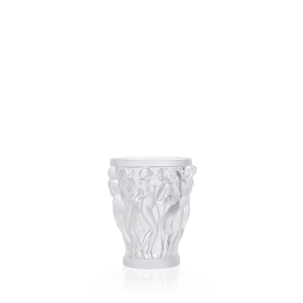 Bacchantes Vase Clear Crystal Small Size Vase Lalique