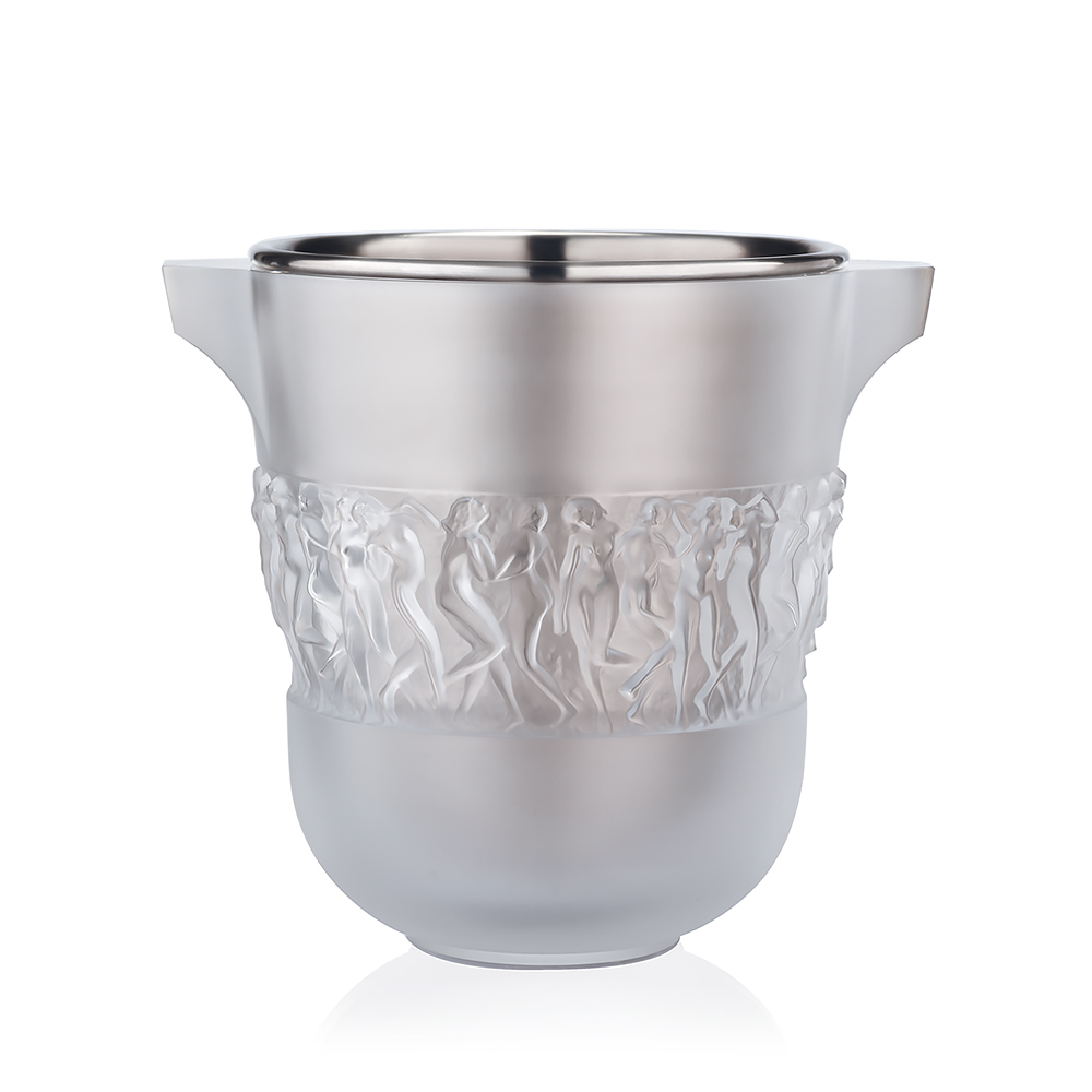 Bacchantes Champagne cooler | Clear crystal | Champagne cooler Lalique
