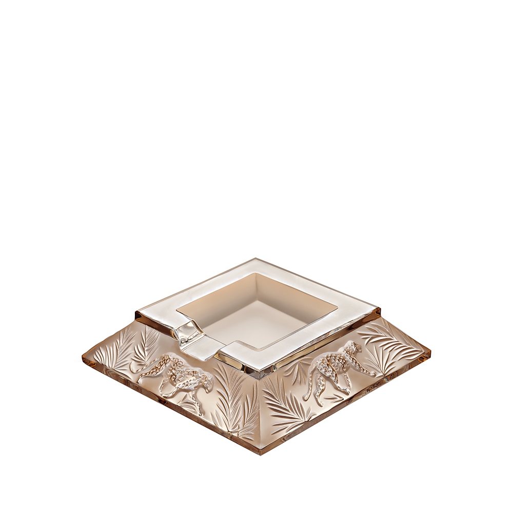 Jungle ashtray | Gold luster crystal | Ashtray Lalique