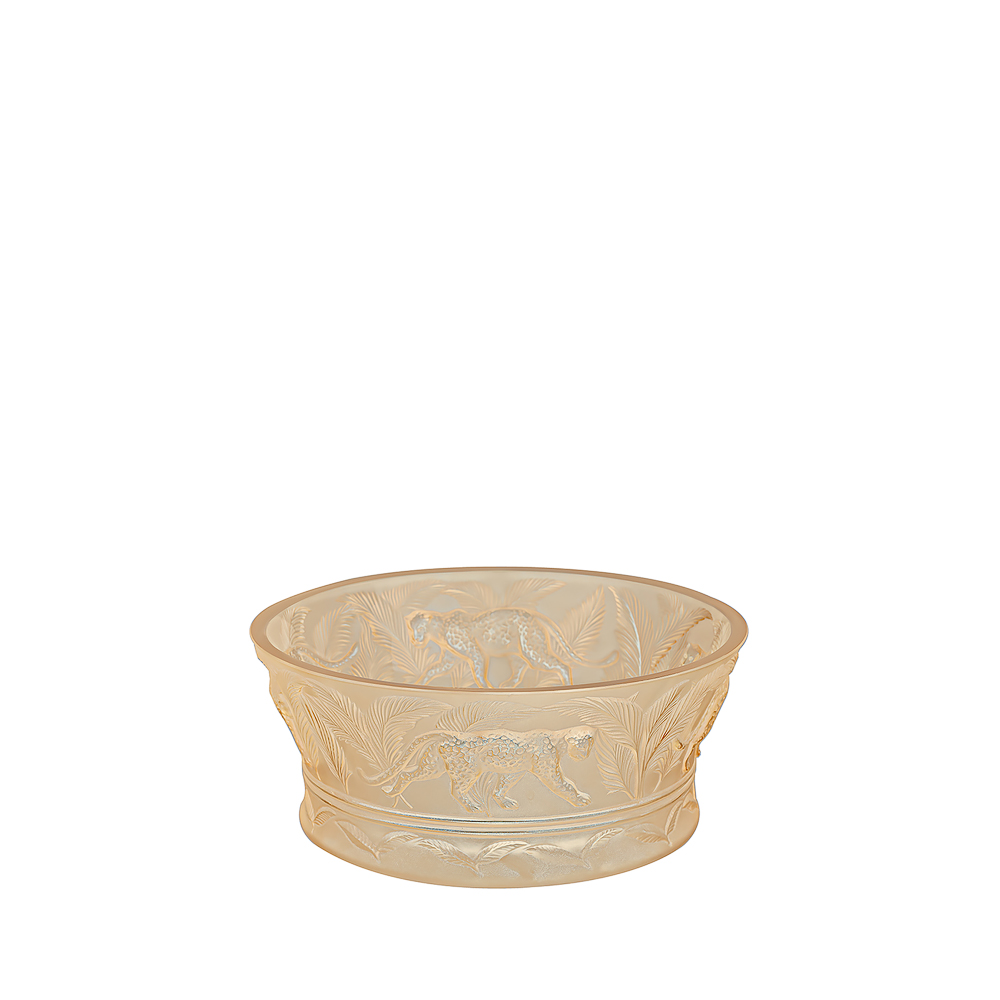 Jungle bowl | Gold luster crystal | Bowl Lalique