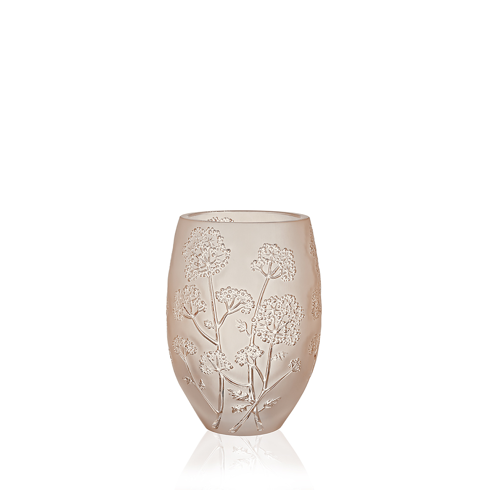 Ombelles vase | Gold luster crystal, medium size | Vase Lalique