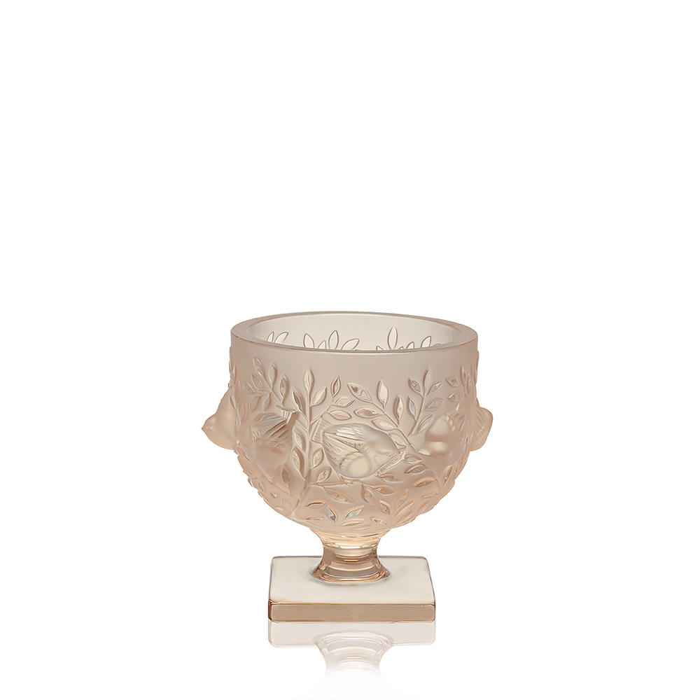 Elisabeth vase | Gold luster crystal | Vase Lalique