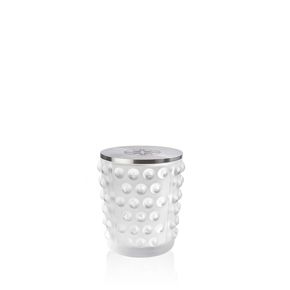 Mossi candle vase | Clear crystal, figtree scented | Candleholder & votive Lalique