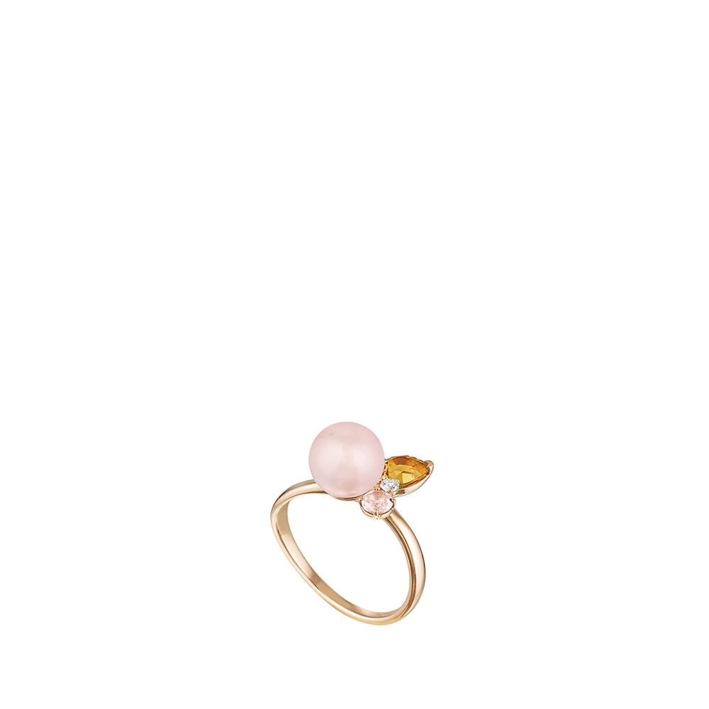 L'Oiseau Tonnerre ring | PINK GOLD, AGATE, CITRINE, QUARTZ, DIAMOND | Lalique fine jewellery