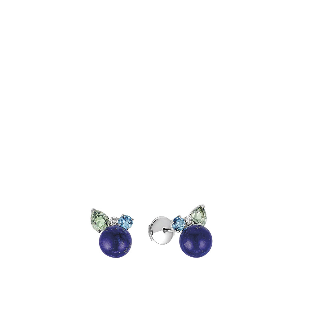 L'Oiseau Tonnerre Earrings | WHITE GOLD, LAPIS LAZULI, TOPAZES, QUARTZ, DIAMONDS | Lalique fine jewellery