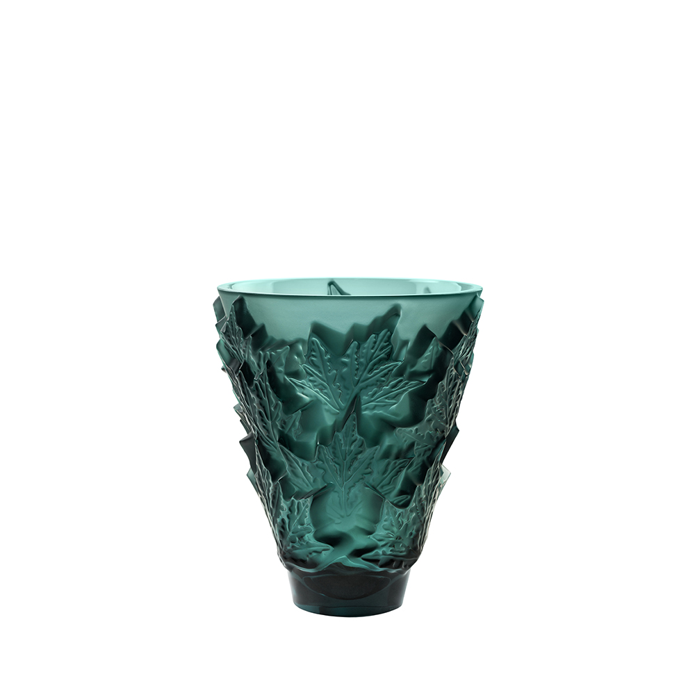 Champs-Élysées small vase | Intense green crystal | Vase Lalique