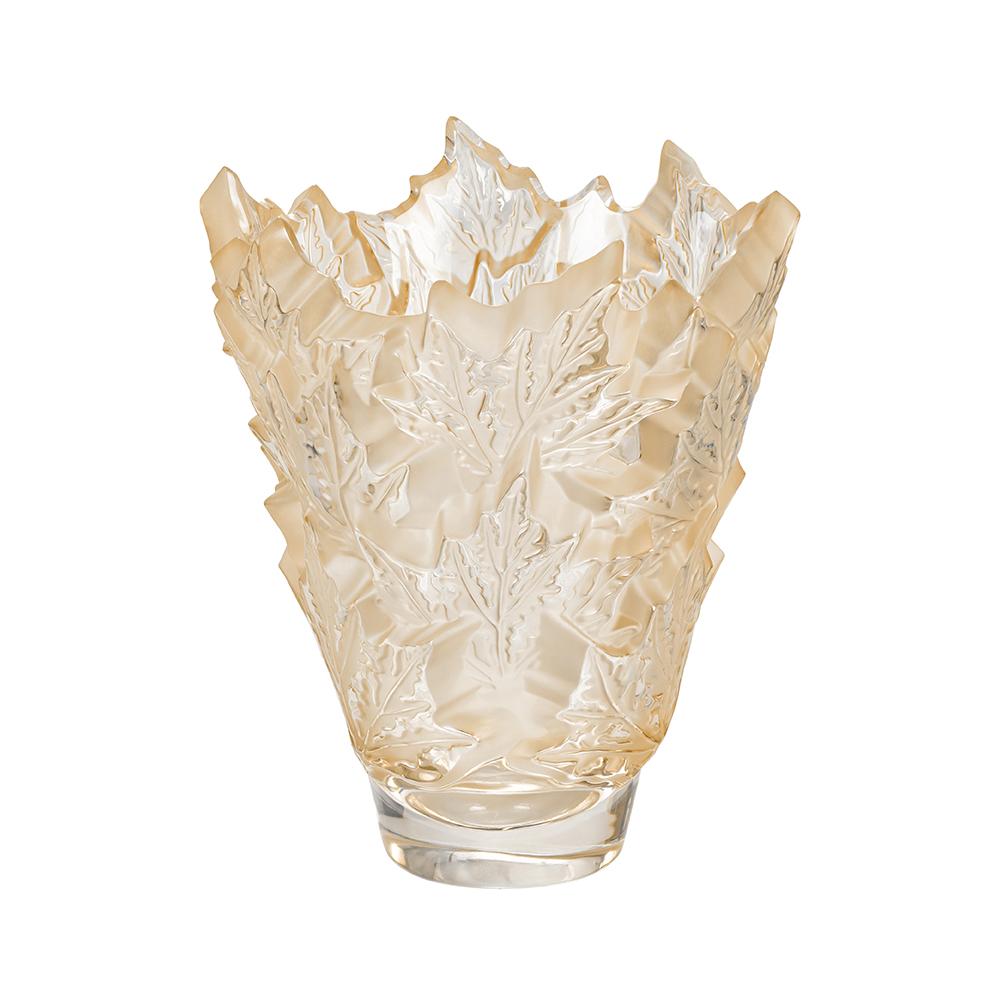 Champs-Élysées vase | Gold luster crystal | Vase Lalique