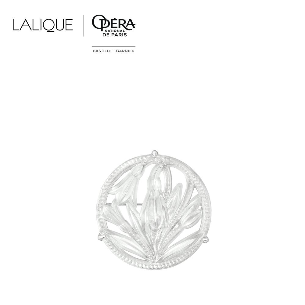 Fleur De Neige brooch   Clear crystal and silver   Costume jewellery Lalique