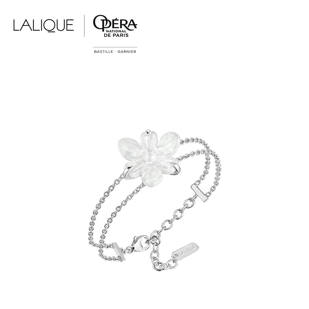 Fleur De Neige bracelet | Clear crystal and silver | Costume jewellery Lalique