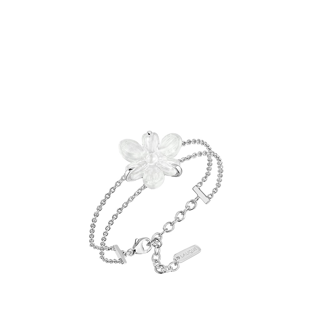 Fleur De Neige bracelet | Clear crystal and silver | Costume jewellery Lalique