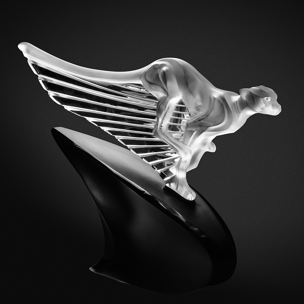 McLaren cheetah sculpture | Limited edition (20 pieces), clear crystal, lost wax | Sculpture Lalique